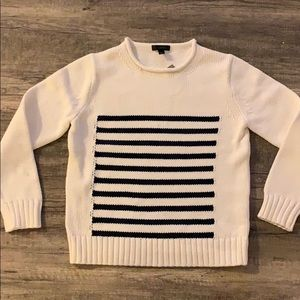NWT J. Crew roll neck striped sweater